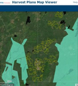 N.S. Forest Harvest Plan Viewer - view in Digby County